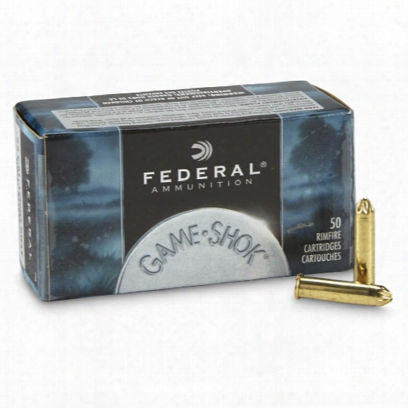 Federal Game-shok, .22lr, No. 12 Bird Shot, 25 Grain, 50 Rounds