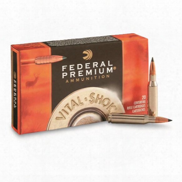 Federal Premium Vital-shok, .338 Winchester Magnum, Trophy Copper Bt, 225 Grain, 20 Rounds