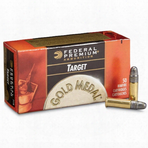 Federal Subsonic Gold Medal Target, .22lr, Lrn, 40 Grain, 50 Rounds