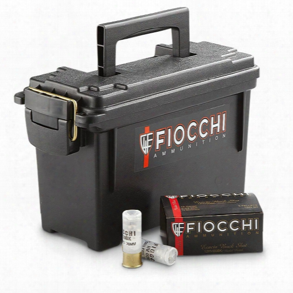"Fiocchi Exacta High-velocity, 12 Gauge, 2 3/4"", 00 Buckshot, With Can, 80 Rounds"