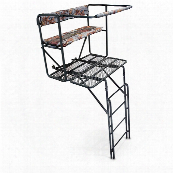 Guide Gear 2-person 17.5' Double-rail Ladder Tree Stand