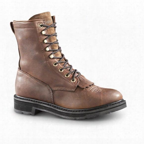 """Guide Gear Men's 9"""" Kiltie Leather Work Boots"""