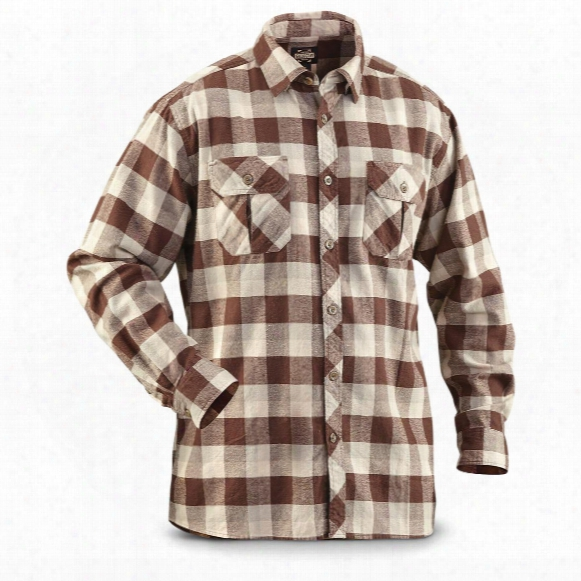 Guide Gear Men's Brushed Flannel Long Sleeve Shirt
