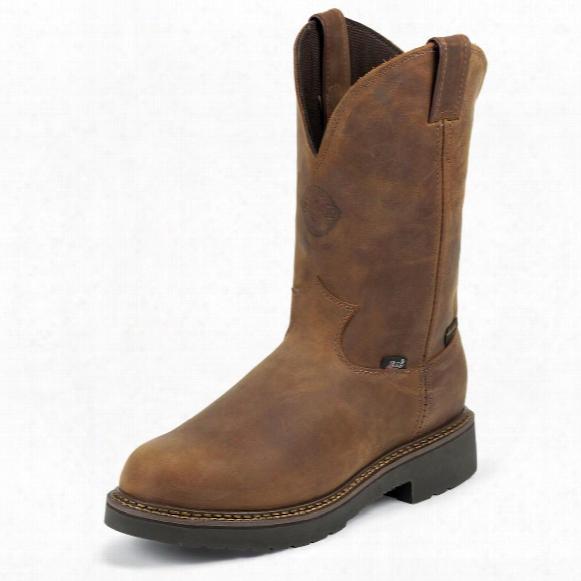 "Justin Original 11"" Waterproof J-max® Pull-on Boots, Aged Bark"