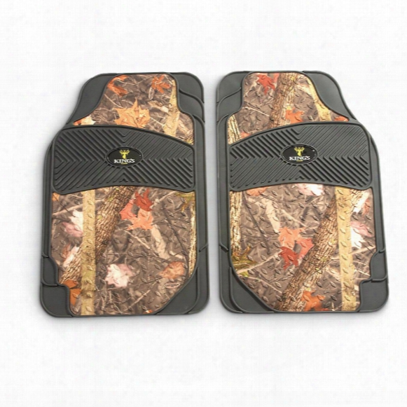 King's Camo 2-pc. All Weather Camouflage Floor Mat Set