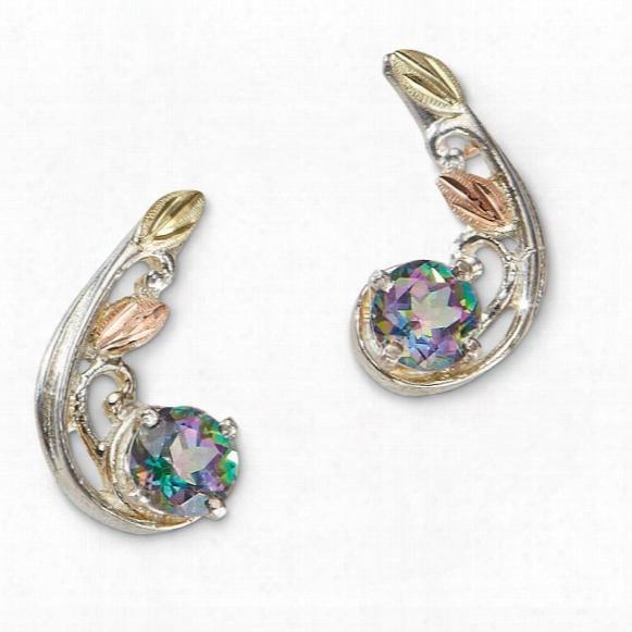 Landstrom's Black Hills Gold Sterling Mystic Fire Earrings