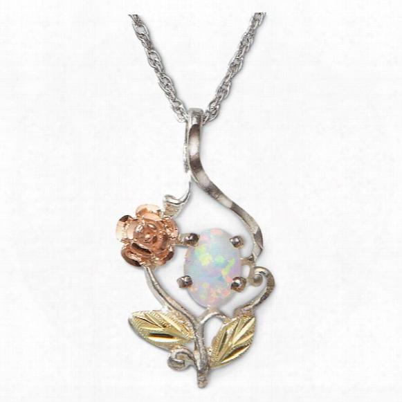 Landstrom≈#39;s Black Hills Gold Sterling Opal Necklace