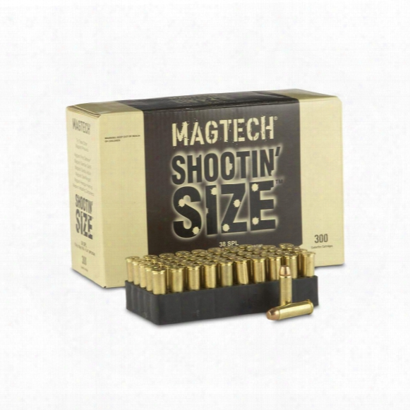 Magtech Shootin' Size, .38 Special, Fmj, 158 Grain, 300 Rounds