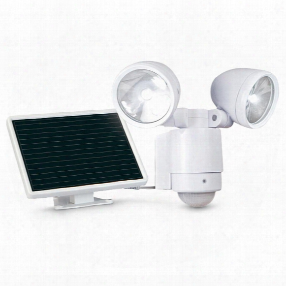 Maxsa Motion-activated 495 Lumen Dual Head Solar Led Spotlight
