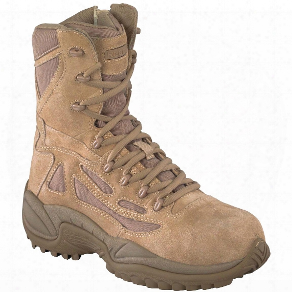 "Men's Reebok 8"" Composite Toe Stealth Boots With Sid Zip"