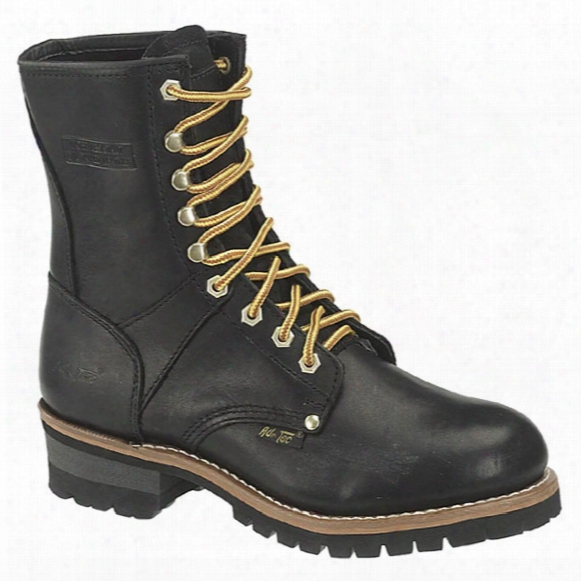 "Men's 9"" Ad Tec® Oiled Leather Loggers, Black"