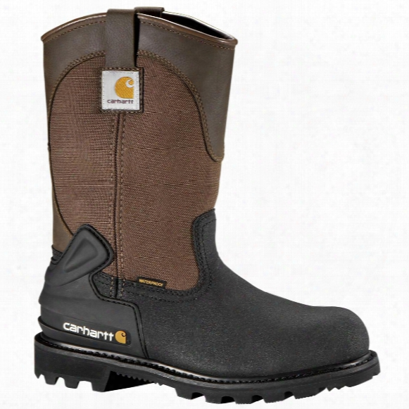"Men's Carhartt® 11"" Waterproof Insulated Steel Toe Wellington Work Boots, Brown / Black"