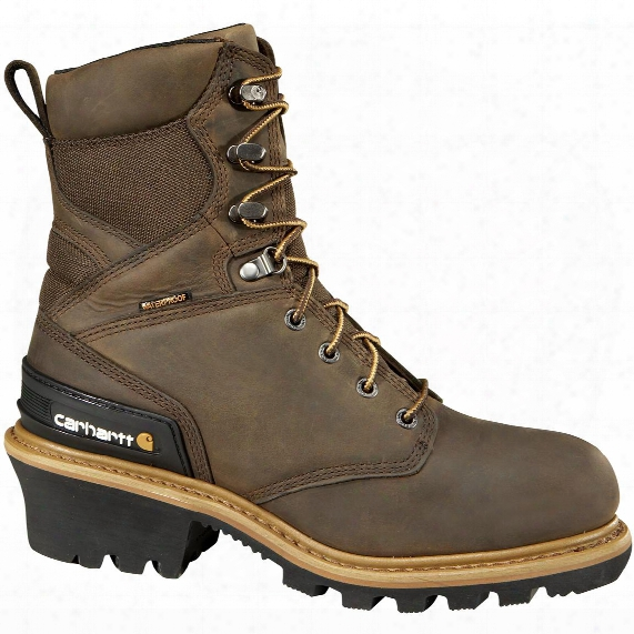 "Men's Carhartt® 8"" Waterproof 400-gram Litefire Insulation Composite Toe Logger Boots, Brown"