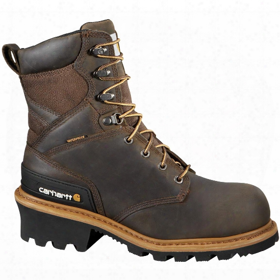 "Men's Carhartt® 8"" Waterproof Composite Toe Logger Boots, Brown"