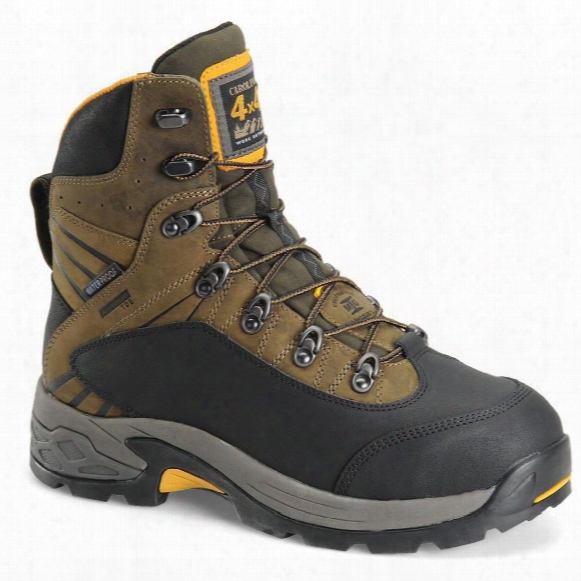 "Men's Carolina 7"" Waterproof 4x4 Aluminum Toe Internal Metguard Hiking Boots, Bandit Stone Gray"