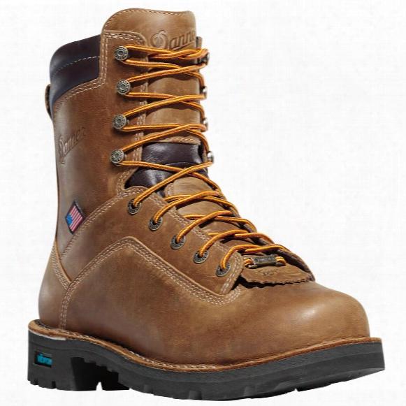 "Men's Danner 8"" Quarry Usa Gtx Waterproof 400 Gram Thinsulate Ultra Insulation Safety Toe Work Boots, Brown"