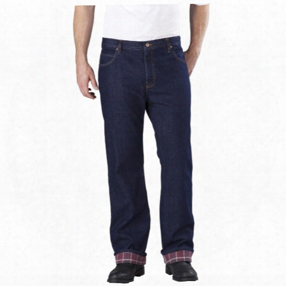 Men's Dickies Relaxed Straight Fit Flannel-lined Jeans