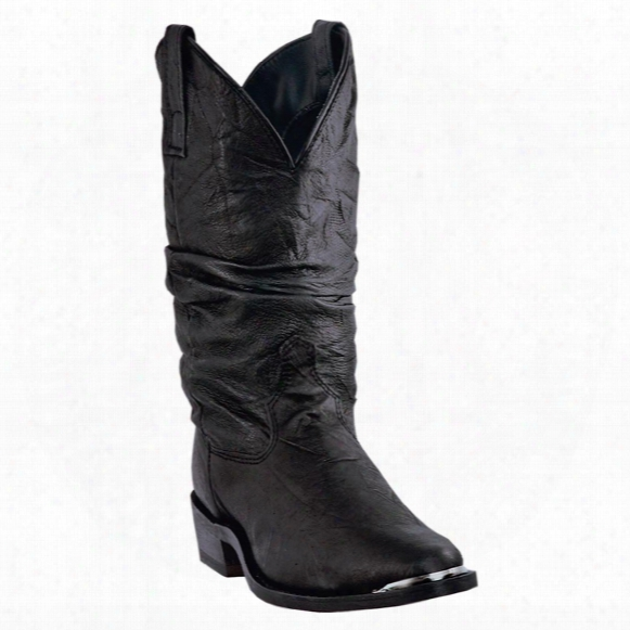 Men's Dingo Amsterdam Western Slouch Boots, Black
