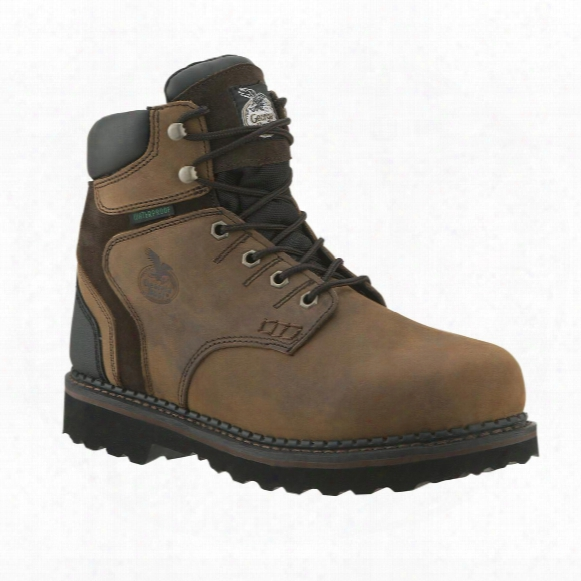 "Men's Georgia Boots® 6"" Brookville Waterproof Work Shoes, Dark Brown"