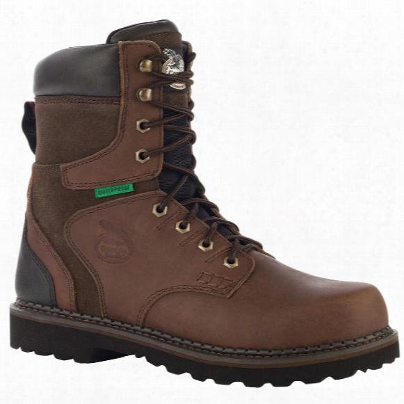 """Men's Georgia Boots® Brookville 8"""" Steel Toe Waterproof Work Boots, Dark Brown"""