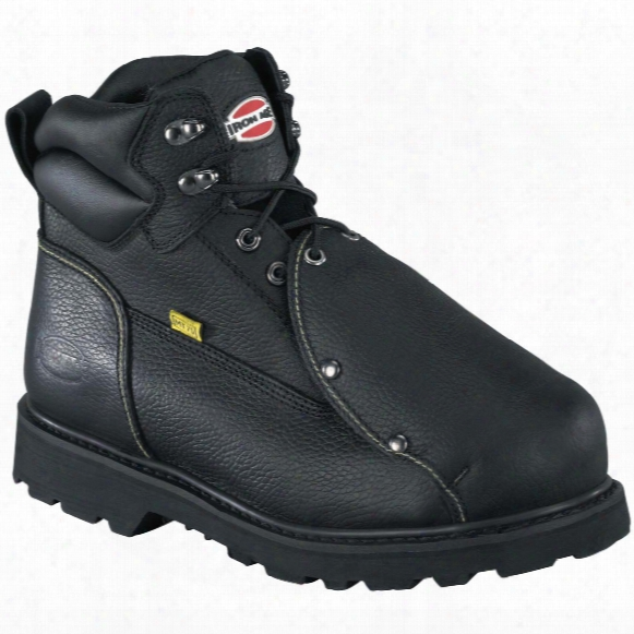 "Men's Iron Age® 6"" Ground Breaker Steel Toe Met Guard Work Boots, Black"