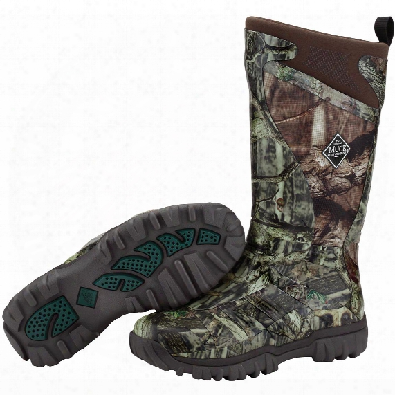 "Men's Muck Boots 14"" Pursuit Supreme Waterproof Camo Rubber Hunting Boots, Mossy Oak Break-up Infinity®"