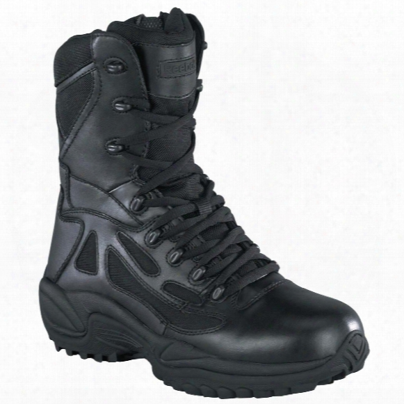 "Men's Reebok® 8"" Side Zip Stealth Tactical Boots, Black"