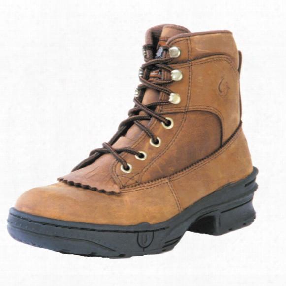 Men's Roper® Crossrider Horseshoe Kiltie Boots, Rocky Brown