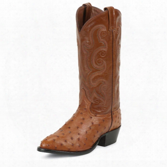 "Men's Tony Lama® 13"" Full Quill Ostrich Western Boots"