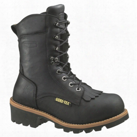 "Men's Wolverine 8"" Buckeye Gore-tex 040-gram Thinsulate Ultra Insulation Eaa Safety Toe Logger Boots, Black"