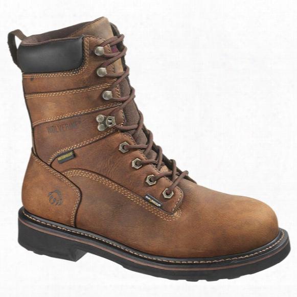 "Men's Wolverine® Brek 8"" Steel Toe Electrical Hazard Durashocks® Boots, Brown"