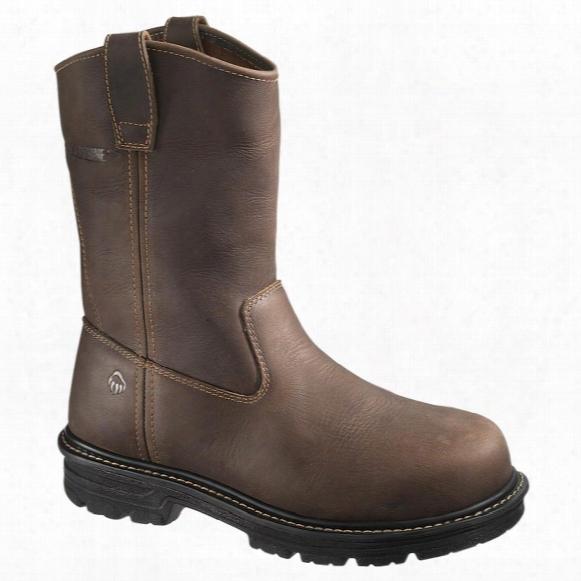 Men's Wolverine® Nolan Waterproof Composite Toe Electrical Hazard Lightweight Welt Wellington Boots, Dark Brown