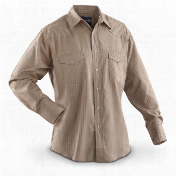 Men's Wrangler Western Long-sleeved Dobby Stripe Shirt