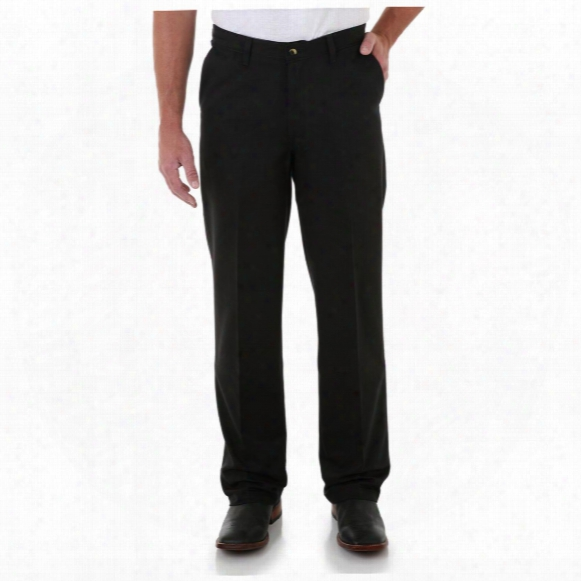Men's Wrangler® Riata® Flat Front Relaxed Fit Casual Pants