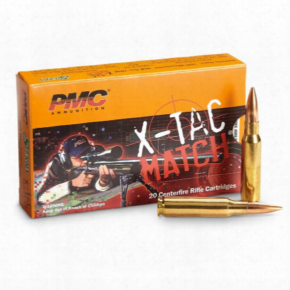 Pmc X-tac Match, .308 Winchester, Otm, 168 Grain, 20 Rounds