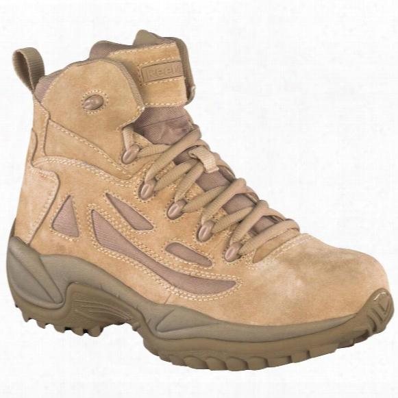 """Reebok Men's 6"""" Rapid Response Rb Stealth Side Zip Combat Boots, Desert Tan"""