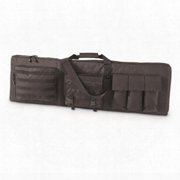 Rifle Case Holds 2 Rifles, 2 Handguns & 6 Magazines