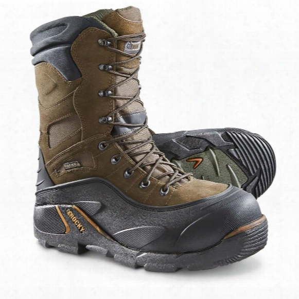 Rocky Blizzard Stalker 1,200-gram Thinsulate Ultra Insulation Steel Toe Boots, Brown