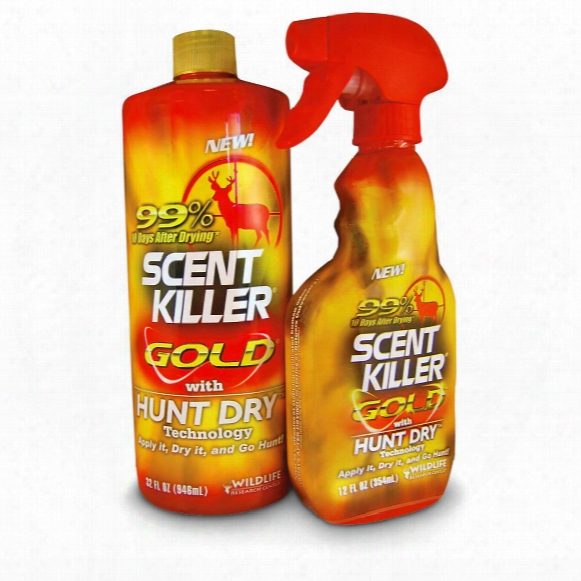 Scent Killer Gold 12-oz. Spray Bottle & 32-oz. Refiller Bottle