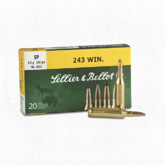 Sellier & Bellot, .243 Winchester, Sp, 100 Grain, 20 Rounds