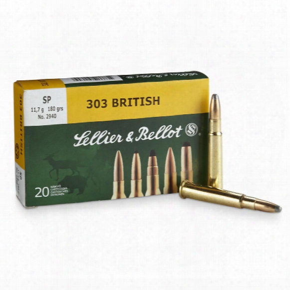 Sellier & Bellot, .303 British, Sp, 180 Grain, 20 Rounds
