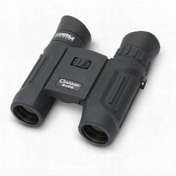 Steiner Champ 8x22mm Waterproof Binoculars, Dark Brown