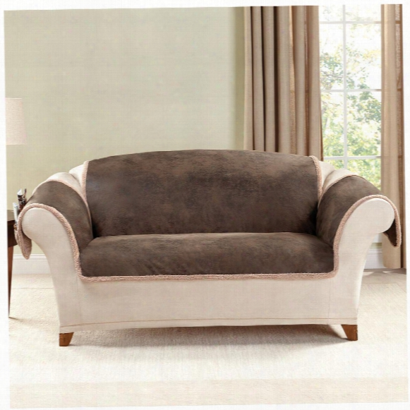 Sure Fit® Leather Furn Friend Loveseat Slipcover