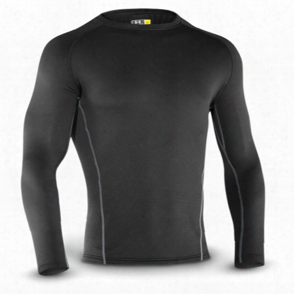 Under Armour Base 3.0 Long Sleeve Crew Shirt, Black