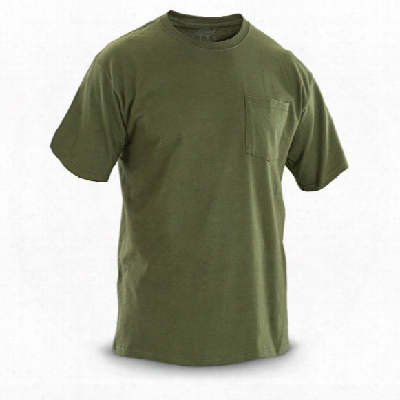 U.s. Military Surplus Pocket T-shirts, 6 Pack, New