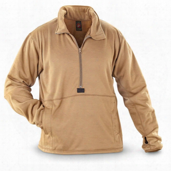 U.s. Military Surplus Usmc Lightweight Polartec Fleece Half-zip Pullover Jacket, New
