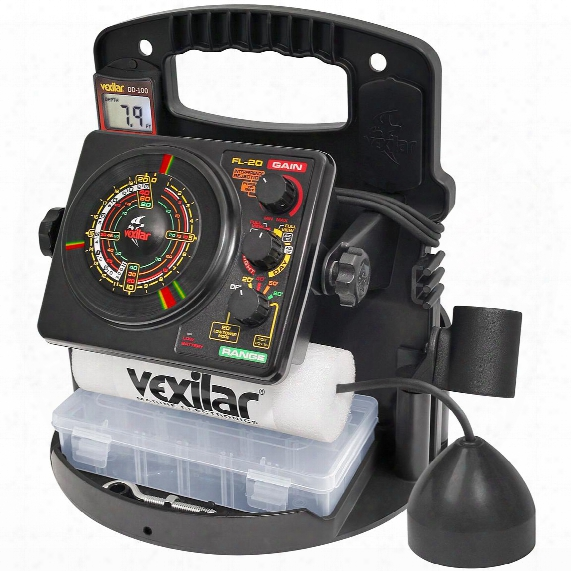 Vexilar Fl-20 Flasher Fishfinder Pro Pack Ii With 12 Degree Ice-ducer