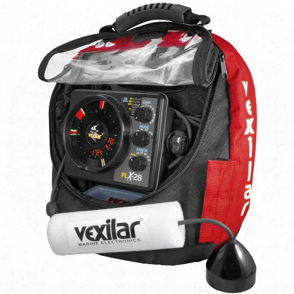 Vexilar Flx-28 Flasher Fishfinder Pro Pack Ii With Pro View 9 Degree Ice-ducer