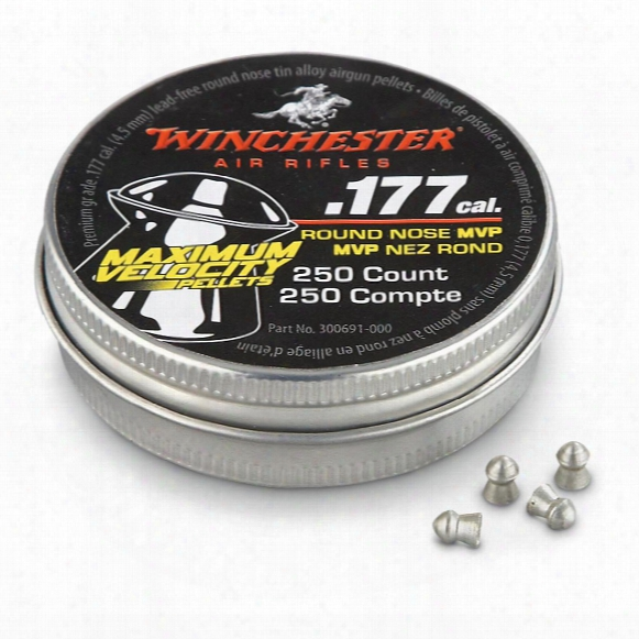 Winchester Lead Free Alloy Pellets, .177 Caliber, Round Nosed, 200 Pack