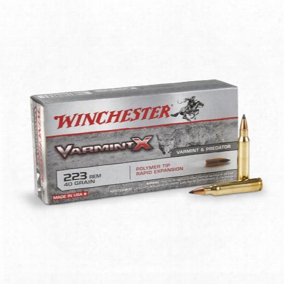 Winchester Varmint X, .223 Rem., Varmint X Poly Tip, 40 Grain, 20 Rounds